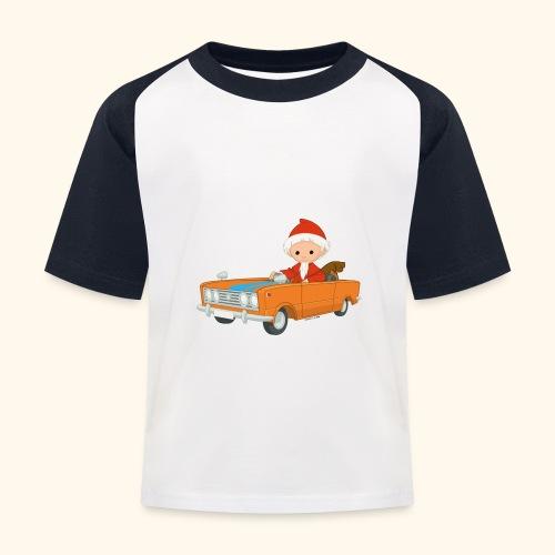Sandmann fährt Auto - Kinder Baseball T-Shirt