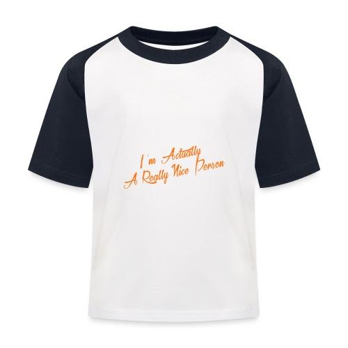 nice-person - Kids' Baseball T-Shirt