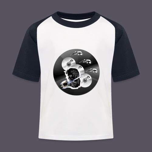 schwarze Schmuck CD - Kinder Baseball T-Shirt