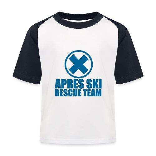 apres-ski rescue team - Kinderen baseball T-shirt