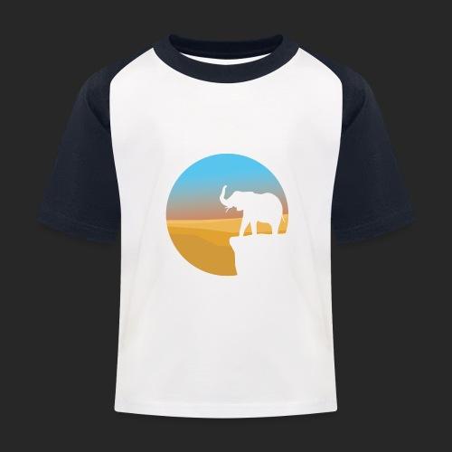 Sunset Elephant - Kids' Baseball T-Shirt