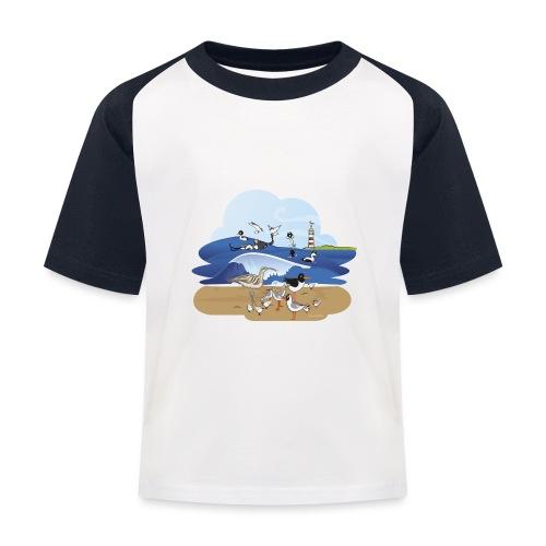 See... birds on the shore - Kids' Baseball T-Shirt