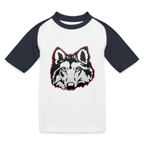 Wolfie (Red) - Kids' Baseball T-Shirt