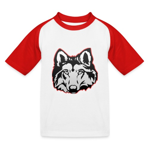 Wolfie (Red) - Kids' Baseball T-Shirt