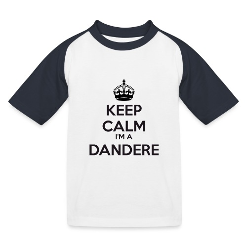 Dandere keep calm - Kids' Baseball T-Shirt