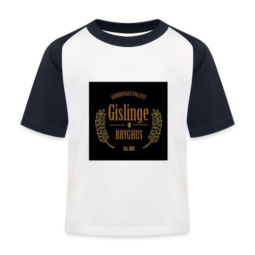 Sort logo 2017 - Baseball T-shirt til børn