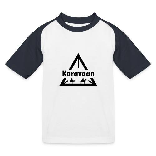 Karavaan Black (High Res) - Kinderen baseball T-shirt