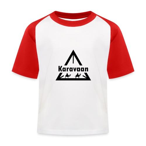 Karavaan Black (High Res) - Kinderen baseball T-shirt