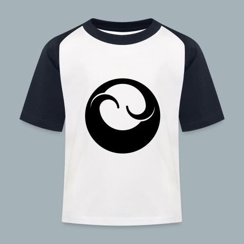 All Black Premium T-shirt - Kinderen baseball T-shirt
