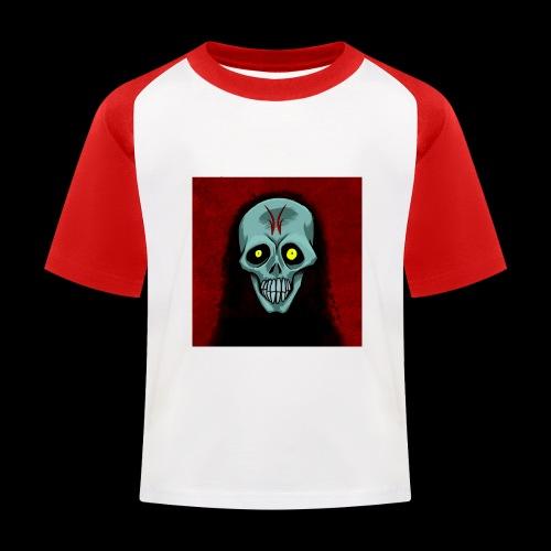 Ghost skull - Kids' Baseball T-Shirt