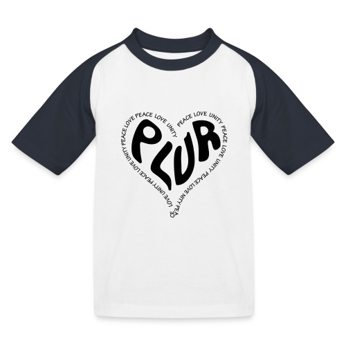 PLUR Peace Love Unity & Respect ravers mantra in a - Kids' Baseball T-Shirt