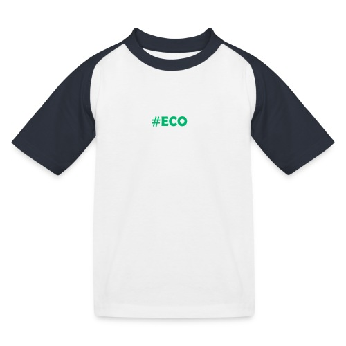 #ECO Blue-Green - Kinder Baseball T-Shirt