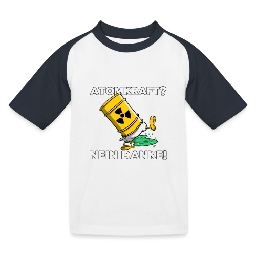 Atomkraft - Nein Danke - Kinder Baseball T-Shirt