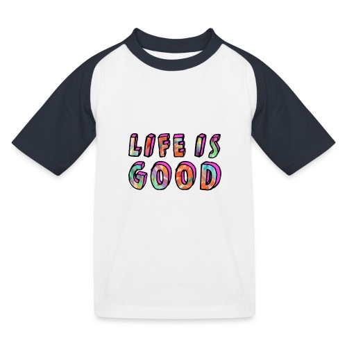 LifeIsGood - Kids' Baseball T-Shirt