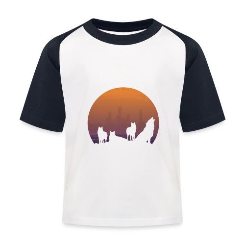 Wolfsrudel - Kinder Baseball T-Shirt