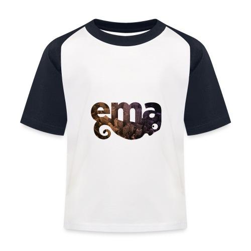 Kameleon in der Grossstadt - Kinder Baseball T-Shirt