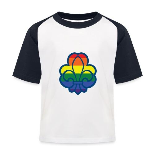 Regnbuespejder hvide t-shirts - Baseball T-shirt til børn