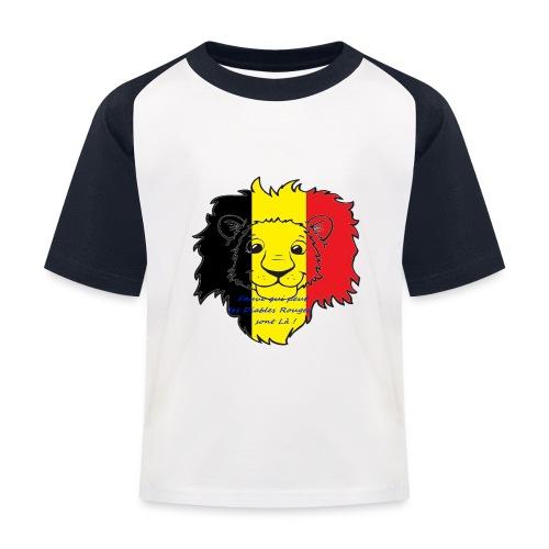 Lion supporter Belgique - T-shirt baseball Enfant