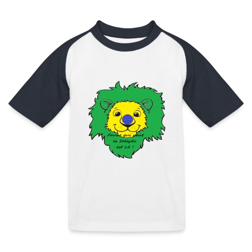 Lion supporter Brésil - T-shirt baseball Enfant
