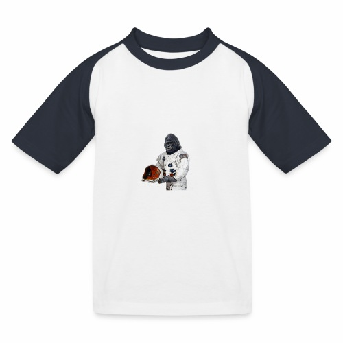 Apes in Space - Kids' Baseball T-Shirt