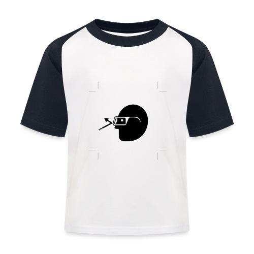 Kopf mit Brille - Kinder Baseball T-Shirt