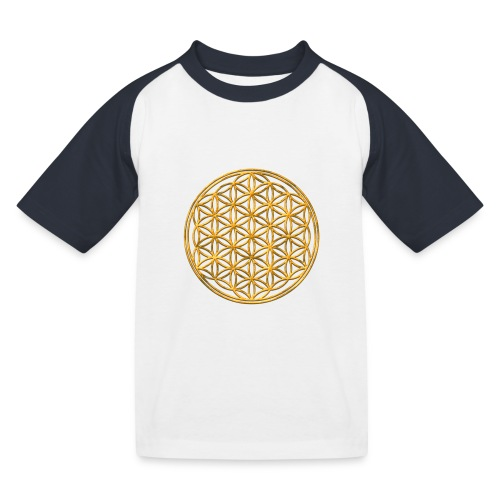 Flower of life GOLD 2 - Kinderen baseball T-shirt