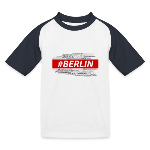 Hashtag Berlin - Kinder Baseball T-Shirt