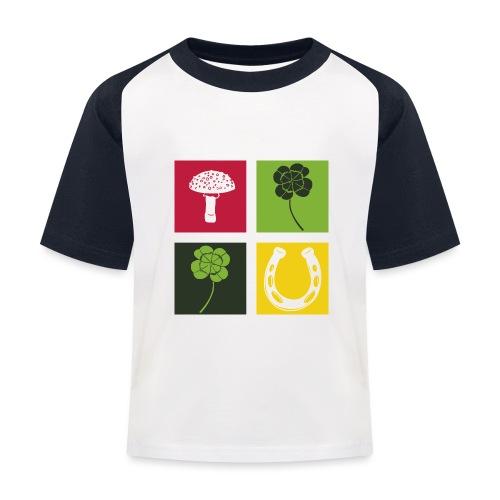 Just my luck Glück - Kinder Baseball T-Shirt