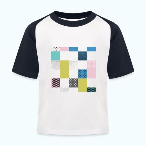 Abstract art squares - Kids' Baseball T-Shirt