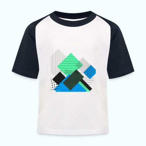 Abstract rectangles pastel - Kids' Baseball T-Shirt