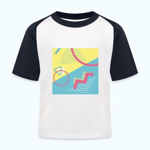 Pastel turquoise geometry - Kids' Baseball T-Shirt