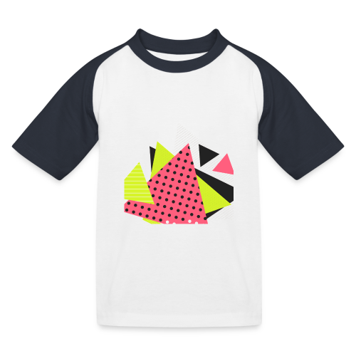 Neon geometry shapes - Kids' Baseball T-Shirt