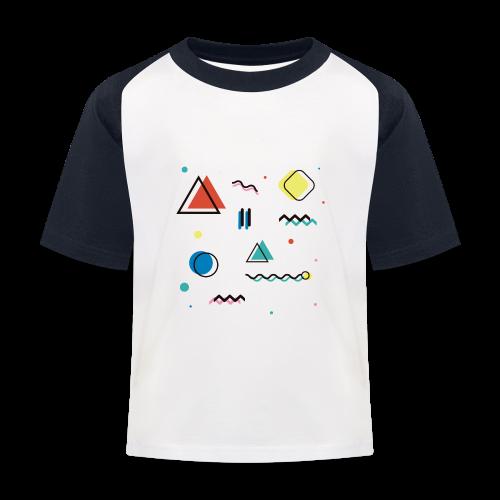 Abstract geometry - Kids' Baseball T-Shirt