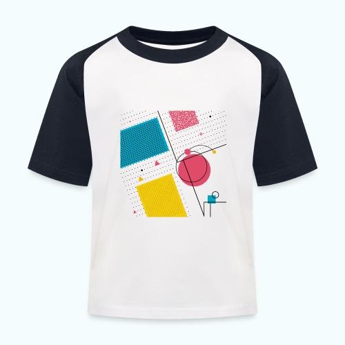 Colors shapes abstract - Kids' Baseball T-Shirt
