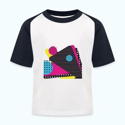 Abstract vintage shapes pink - Kids' Baseball T-Shirt