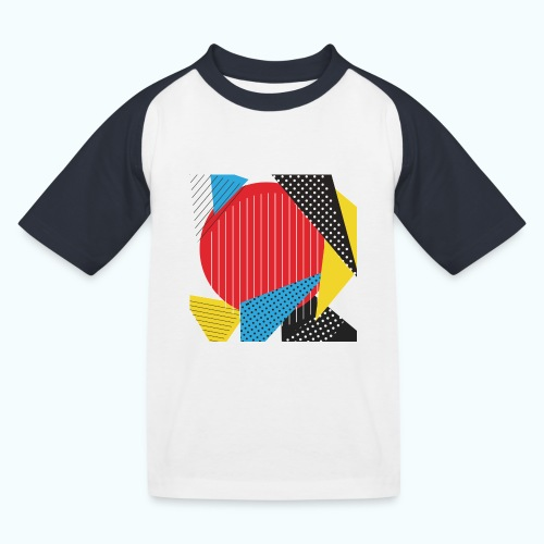 Geometry collage Abstract colors - Kids' Baseball T-Shirt