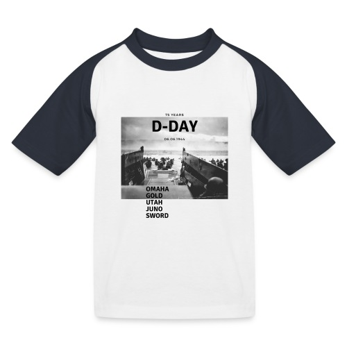 75 Jahre D-Day - Kinder Baseball T-Shirt