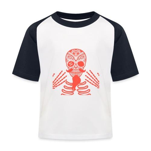 Rockabilly Skull Barebone Collection - Kinder Baseball T-Shirt