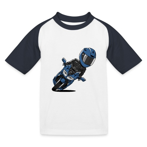 0791 FJR PhantomBlue - Kinderen baseball T-shirt