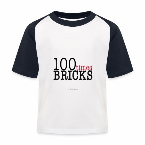 100times BRICKS - Maglietta da baseball per bambini