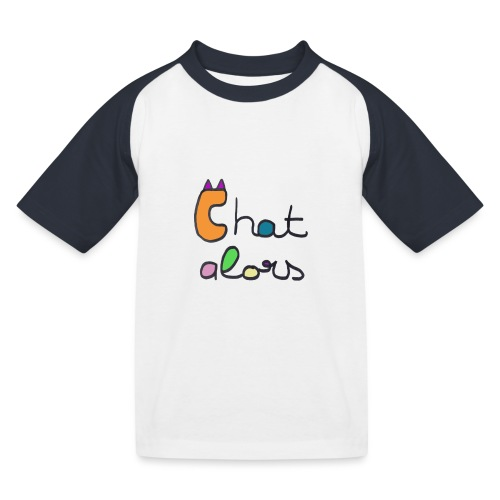 Chat Alors - T-shirt baseball Enfant