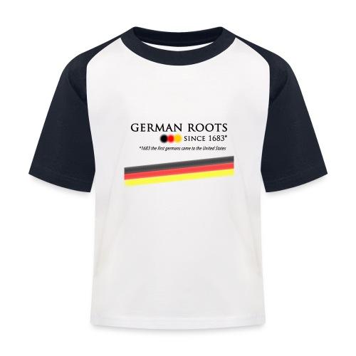 German roots in USA - Kinder Baseball T-Shirt