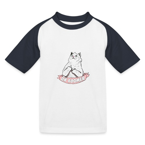 OK Boomer Cat Meme - Kids' Baseball T-Shirt