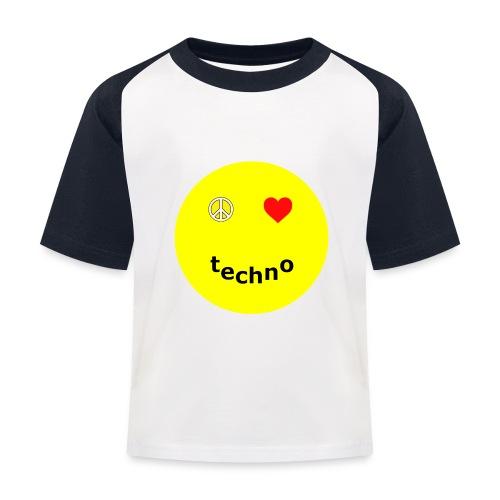 camiseta paz amor techno - Camiseta béisbol niño