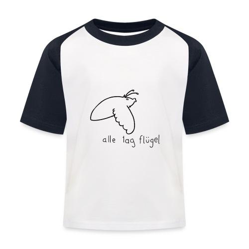 Schwärmer - Alle Tag Flügel - schwarz - Kinder Baseball T-Shirt