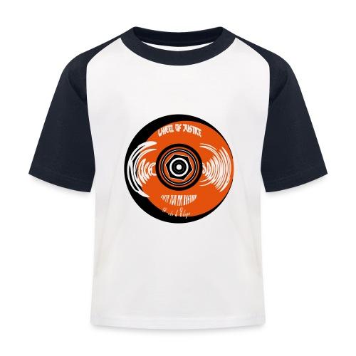 Wheel of justice - Kids' Baseball T-Shirt