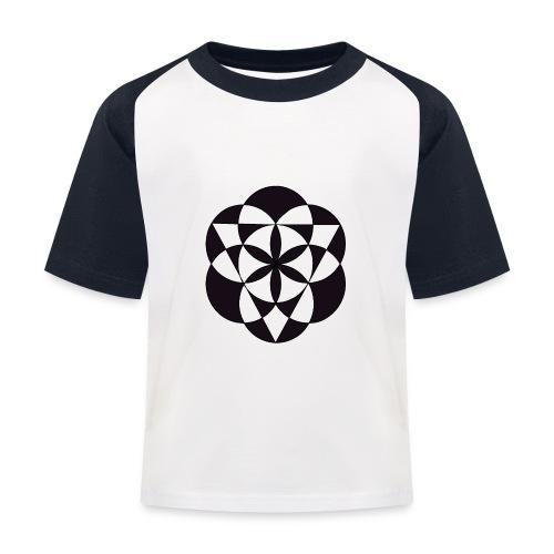 diseño de figuras geométricas - Camiseta béisbol niño