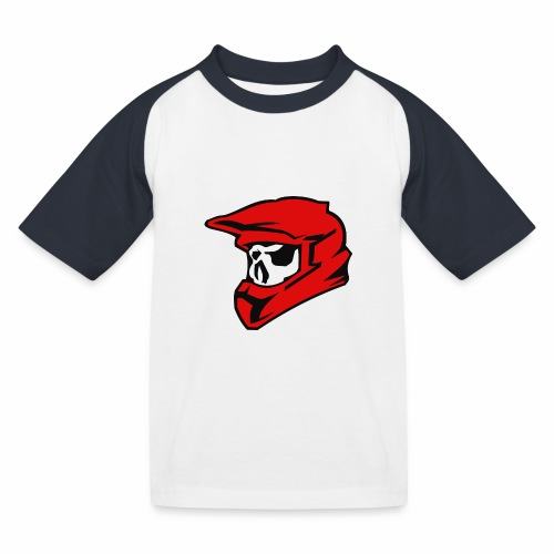 Schaedel Motocross - Kinder Baseball T-Shirt
