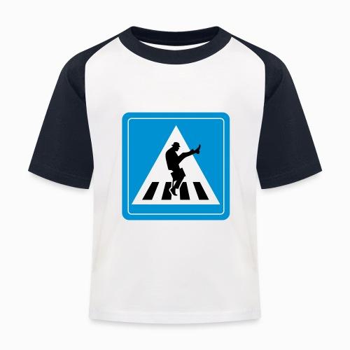 Silly walk zebrapad verkeersbord Zierikzee Zeeland - Kinderen baseball T-shirt