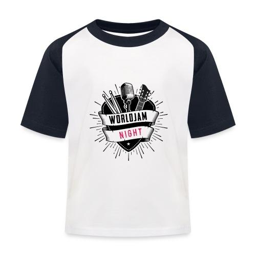 WorldJam Night - Kids' Baseball T-Shirt